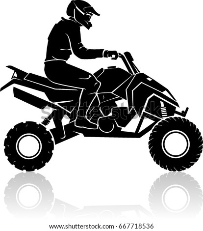 All Terrain Vehicle Atv Silhouette Stock Vector Royalty Free