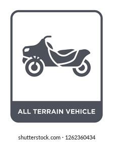 all terrain vehicle icon vector on white background, all terrain vehicle trendy filled icons from Transportation collection, all terrain vehicle simple element illustration