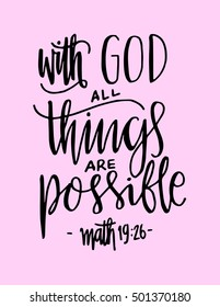 With God All Things Are Possible Images Stock Photos Vectors