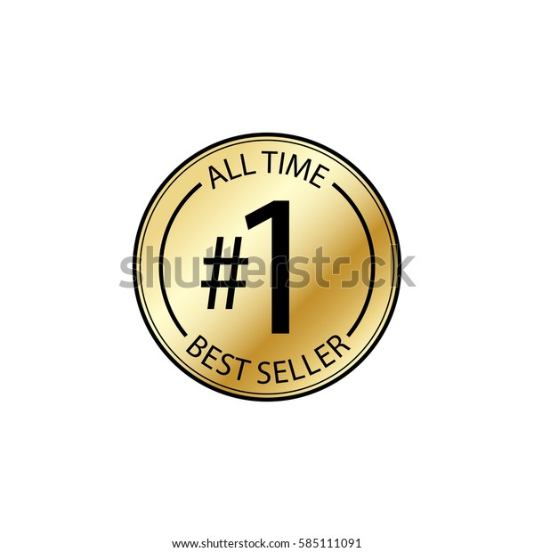 All Time Best Seller Word 1 Stock Vector (Royalty Free