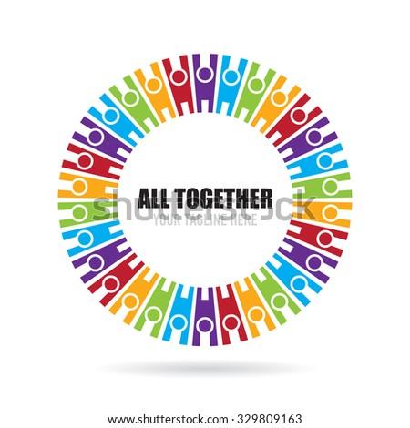 all together icon logo template のベクター画像素材 ロイヤリティ