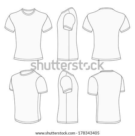 b246d33db All Views Mens White Short Sleeve Stock Vector (Royalty Free ...
