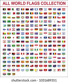 All world flags Vector