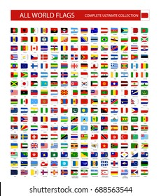 All World Vector Flags Vector Collection.