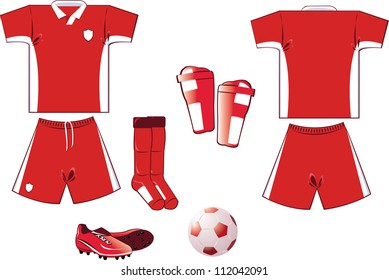 all you need to play soccer game... every object is grouped and you can easily add numbers or names on the shirt!