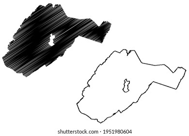 Alleghany County, Commonwealth of Virginia (U.S. county, United States of America) map vector illustration, scribble sketch Alleghany map