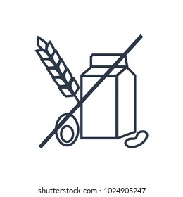 Allergen icon. Isolated allergy and allergen icon line style. Premium quality vector symbol drawing concept for your logo web mobile app UI design.