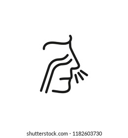 Allergy line icon. Nose, sinus, rhinitis Healthcare concept. Can be used for topics like medicine, medical checkup, otolaryngology