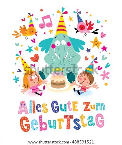 alles gute zum geburtstag deutsch german happy birthday greeting card
