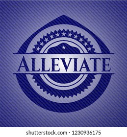Alleviate badge with jean texture