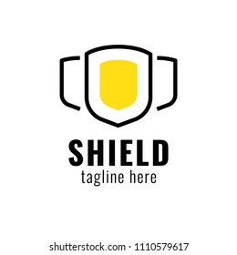 Alliance group. Shield protection logo. Insurance concept.