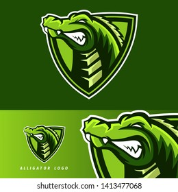 Alligator esport gaming mascot logo template, suitable for your team, business, and personal branding