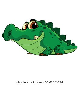 Alligator illustration character sticker poster