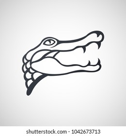 Alligator logo icon design, vector illustration