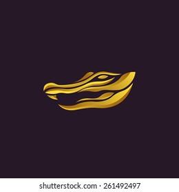 Alligator logo vector