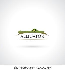 Alligator symbol - vector illustration