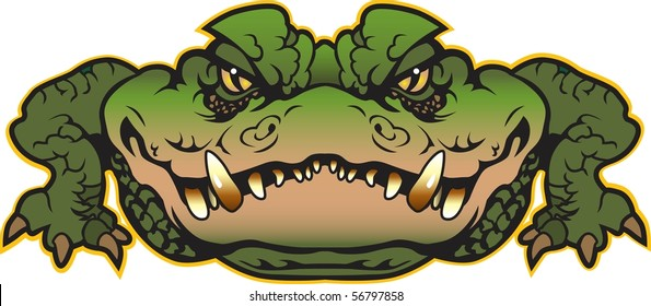 Alligator vector done in multiple layers for easy editing.