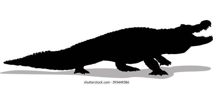 Alligator vector silhouette