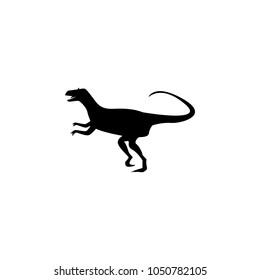Allosaurus icon. Elements of dinosaur icon