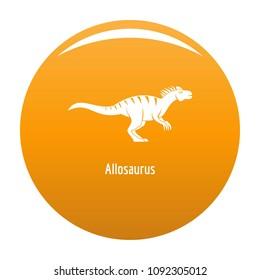 Allosaurus icon. Simple illustration of allosaurus vector icon for any design orange