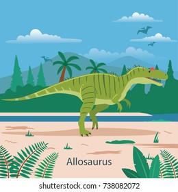 Allosaurus. Prehistoric animal