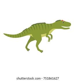 Allosaurus. Prehistoric animal. Vector illustration of dinosaur isolated on white background.
