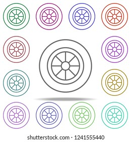 alloy wheel icon. Elements of auto workshop in multi color style icons. Simple icon for websites, web design, mobile app, info graphics on white background