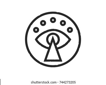 the all-seeing eye in the circle