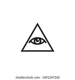 All-Seeing Eye icon or logo template. The Eye of God. Vector