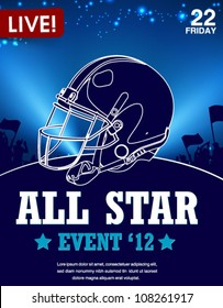 all-star football game poster