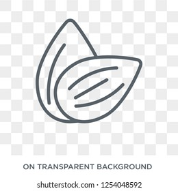 Almond icon. Trendy flat vector Almond icon on transparent background from nature collection. High quality filled Almond symbol use for web and mobile