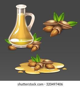 Almond oil set