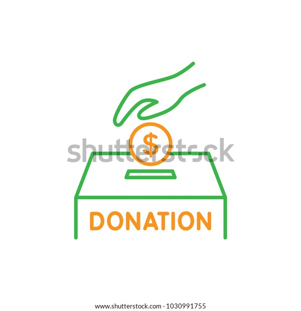 Alms Charity Donation Coin Put Into Stock Vector (Royalty