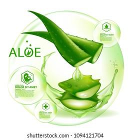 Aloe Vera collagen Serum Skin Care Cosmetic.