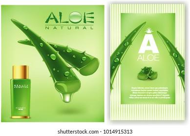 Aloe vera cosmetics background