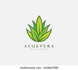 Aloe Vera Fresh Logo Green Leaf