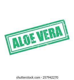 Aloe Vera, Grunge Stamp, Vector illustration