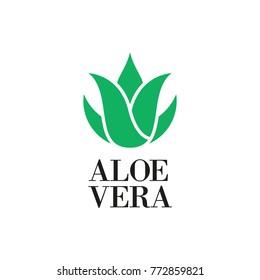 Aloe vera icon or logo design. Vector