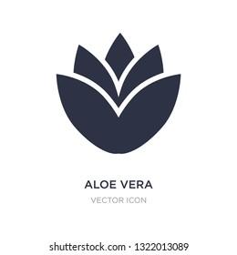 aloe vera icon on white background. Simple element illustration from Beauty concept. aloe vera sign icon symbol design.