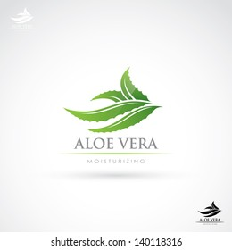 Aloe Vera label - vector illustration