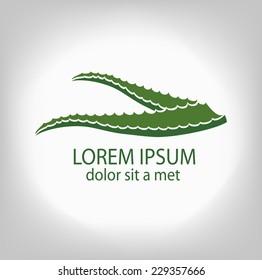 Aloe-vera. Leaf logo, concept, sign company.