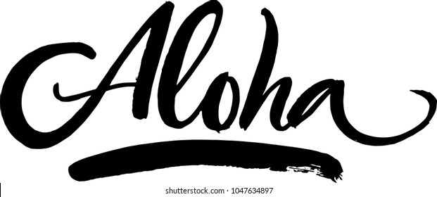 Aloha brush writing