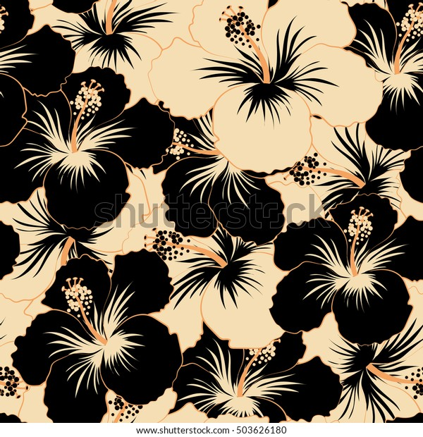 Aloha Hawaiian Shirt Vector Seamless Pattern Stock Vector (Royalty ...