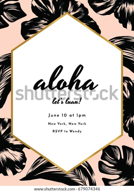 Aloha Party Invitation Design Stock Vector (Royalty Free) 679074346
