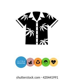 Aloha shirt simple icon