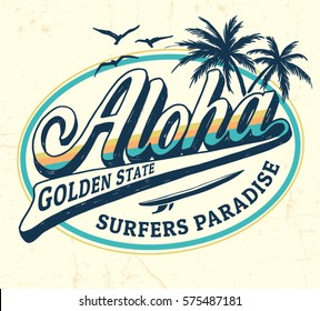 Aloha vector illustration for t-shirt and other uses