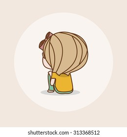 Lonely Girl Cartoon Images Stock Photos Vectors Shutterstock