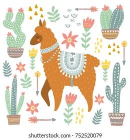 Alpaca and cacti