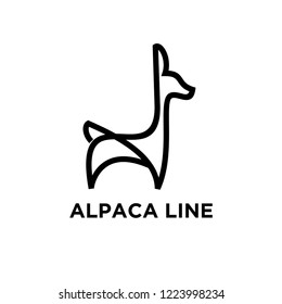 alpaca line unique animal logo icon designs icon vector