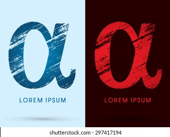 Alpha ,Font Cool and Hot, Ice and Fire, grunge destroy, graphic vector.
